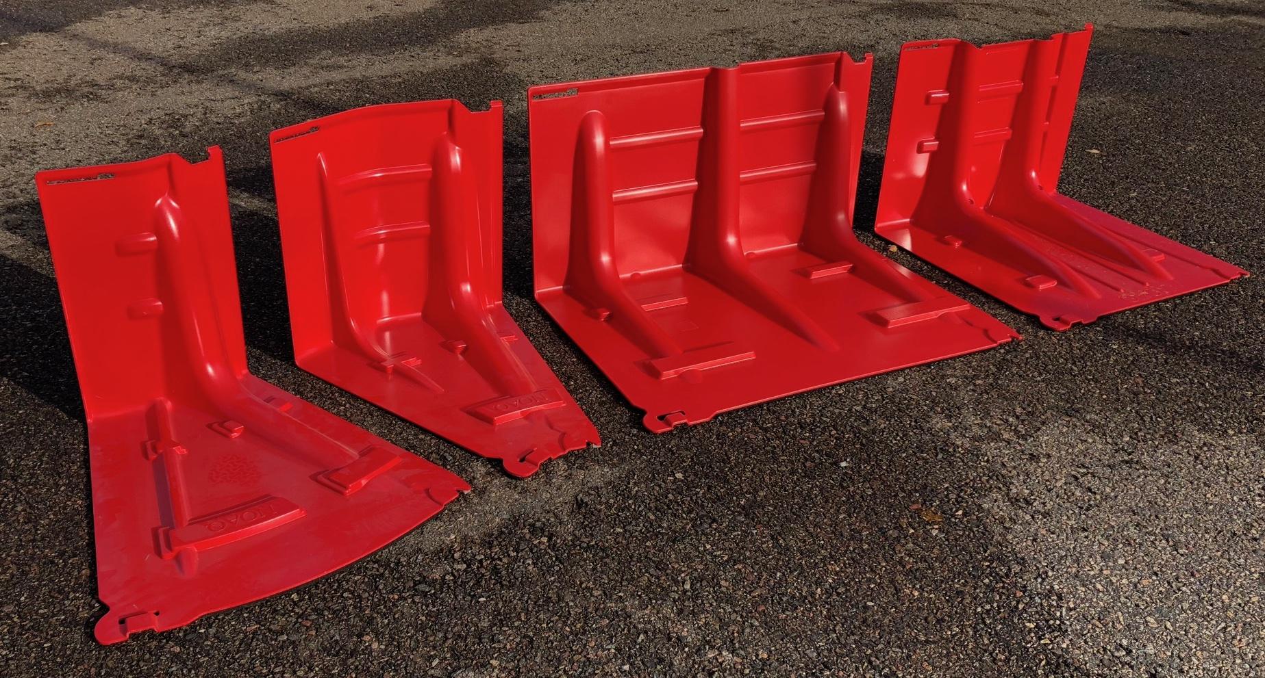 Noaq Boxwall Hochwasserschutz 4 Varianten mit Geraden Innenkurven und Außenkurven